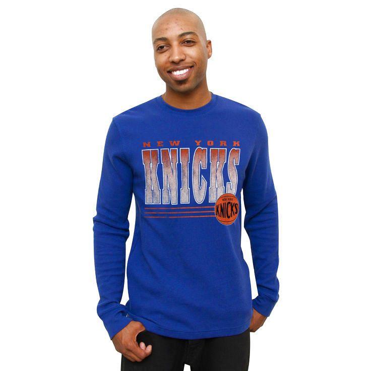 New York Knicks Team Loud Long Sleeve Thermal T-Shirt - Royal Blue - $26.59