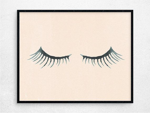 Eyelashes Digital Poster Printable Poster by PaperIslandDesign