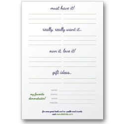 Catalog Wish List (Post-Its) for home party businesses