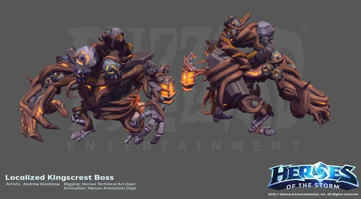 ArtStation - Heroes of the Storm Localized Kingscrest Boss, Andrew Kinabrew