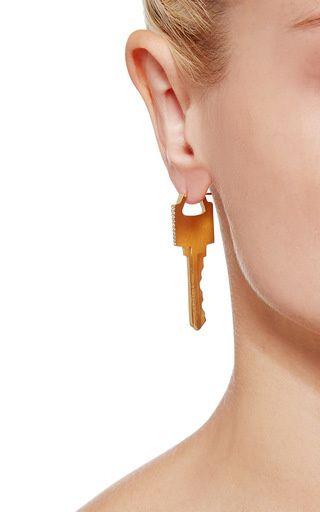 Key Earring With Diamonds by Lauren Klassen for Preorder on Moda Operandi