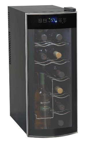 AVANTI 12 BOTTLE WINE COOLER - http://www.wineracksaccessories.com/avanti-12-bottle-wine-cooler/