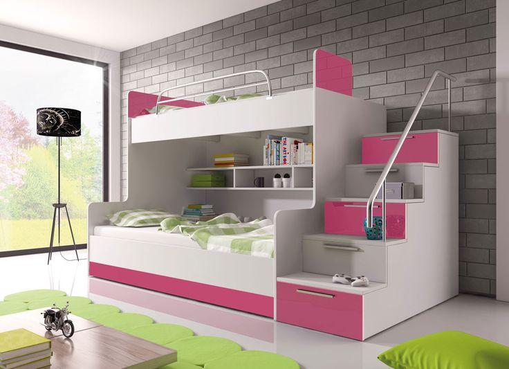 Bedroom for twins! Sypialnia dla bliźniąt! http://www.mirjan24.pl/meble-dzieciece-i-mlodziezowe/893-meble-mlodziezowe-paradise-ii-5900101284383.html  #twins #teenager