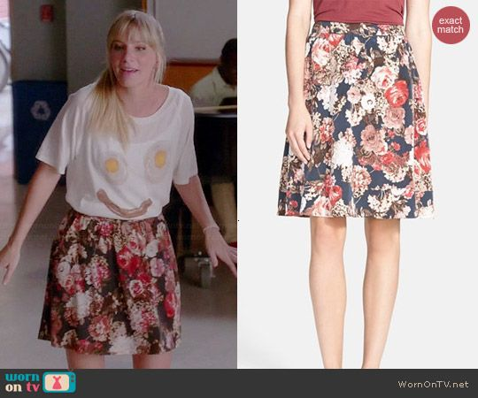 Brittany's floral skirt on Glee.  Outfit Details: http://wornontv.net/43937/ #Glee (shortened)