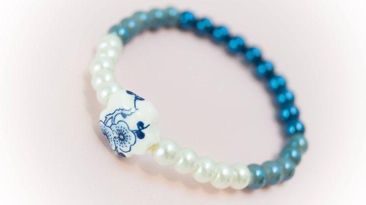 Excited to share the latest addition to my #etsy shop: Bracelet 13 http://etsy.me/2CGq8wd #jewelry #bracelet #blue #white #no #women #womanbracelet #handmadebracelet #fashionbracelet