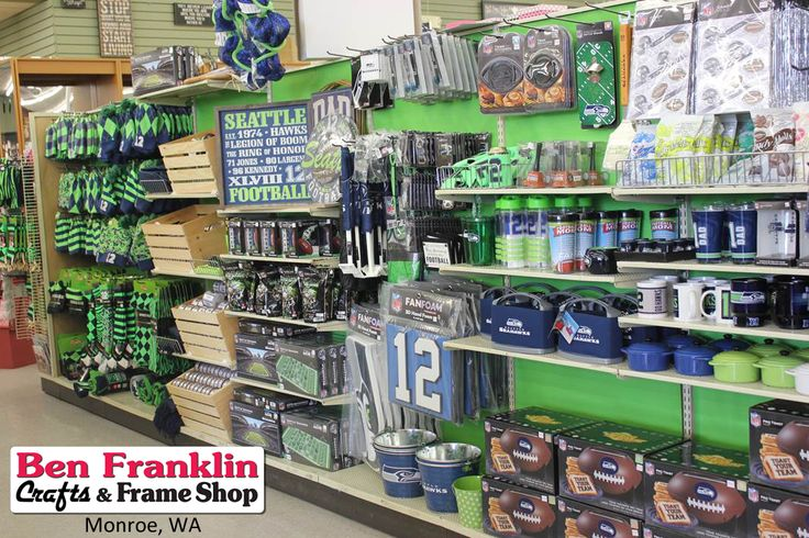 Getting ready for SOME FOOTBALL!!! GO HAWKS!.....okay, it's a little early but we are super excited because we have some great new Seahawks merchandise already rolling in our Ben Franklin Crafts store in Monroe, WA. 360-794-6745  #SeattleSeahawks #GoHawks