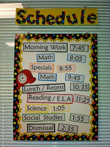 Best Classroom Schedule Images On   Classroom Decor