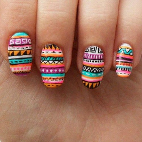 these tribal nails are amazing! - Best 25+ Aztec Nails Ideas On Pinterest Pretty Nails, Pretty