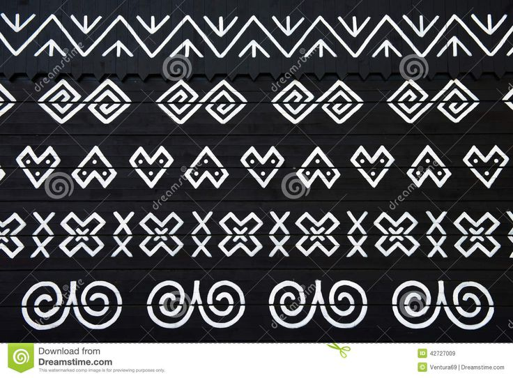 Painted Decorations On Wall Of Log House In Cicmany, Slovakia - Download From Over 46 Million High Quality Stock Photos, Images, Vectors. Sign up for FREE today. Image: 42727009
