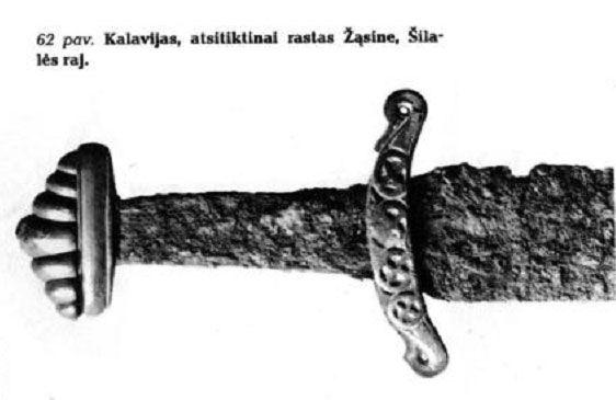 Kurshskij mech tipa T1 po Petersenu iz Litvy