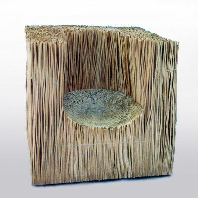 Wicker and resin chair by artist and designer Pawel Grunert. $1700.00