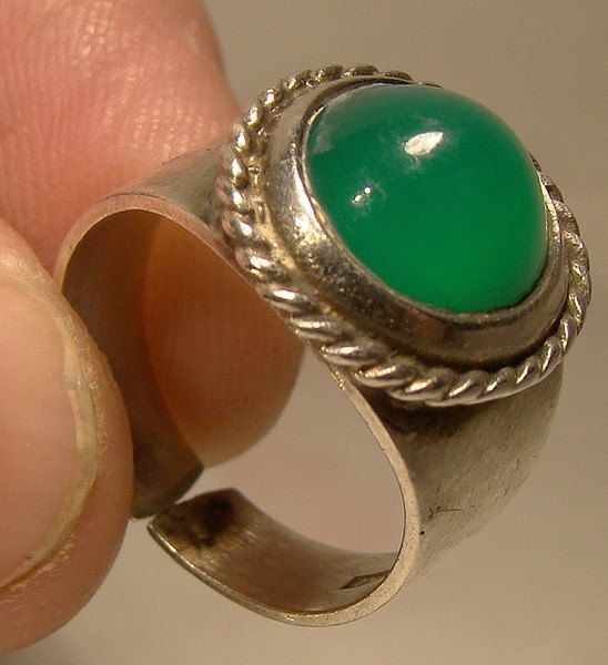 Chrysoprase Sterling Silver Finland by FionaKennyAntiques on Etsy