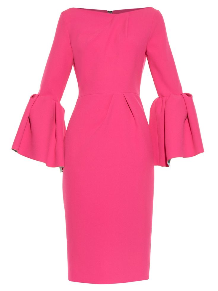 Margot bell-sleeve crepe dress | Roksanda | MATCHESFASHION.COM UK