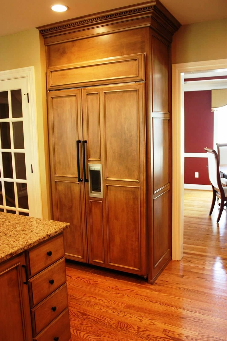 Built in refrigerator cabinet - Built In Refrigerator Freezer With Cabinet Panels Great For People Who Hate