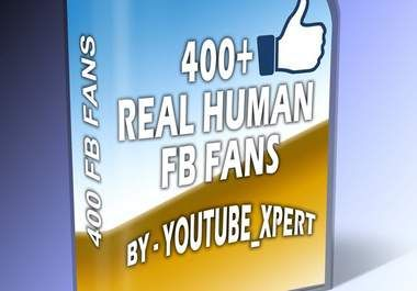 Get 400+ real human and active fans to your facebook page without admin access - $5