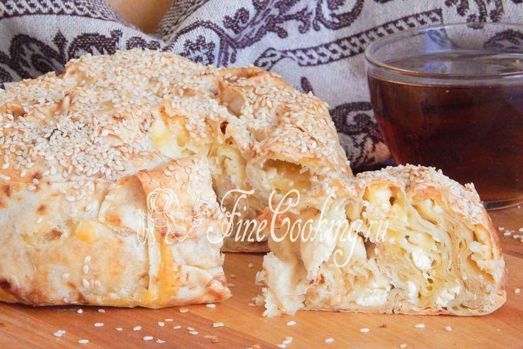 Пирог из лаваша с сыром - рецепт с фото