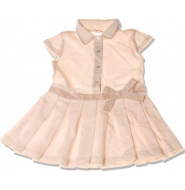 NaturaPura Πλισέ Φορεματάκι Πικέ με Ζωνάκι στη Μέση