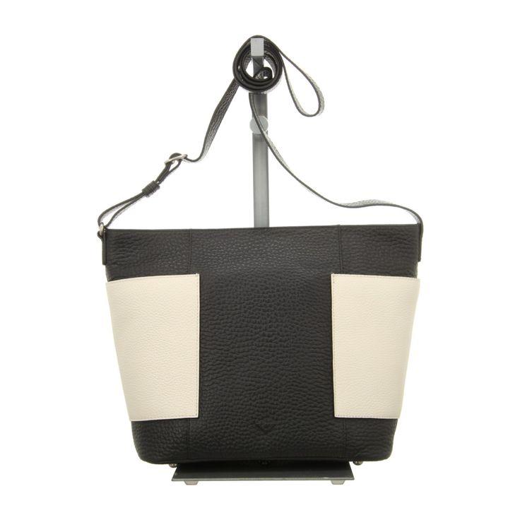 NEU: Voi Leather Design Handtaschen Shopper - 21852 SZ/WS - schwarz/weiss -