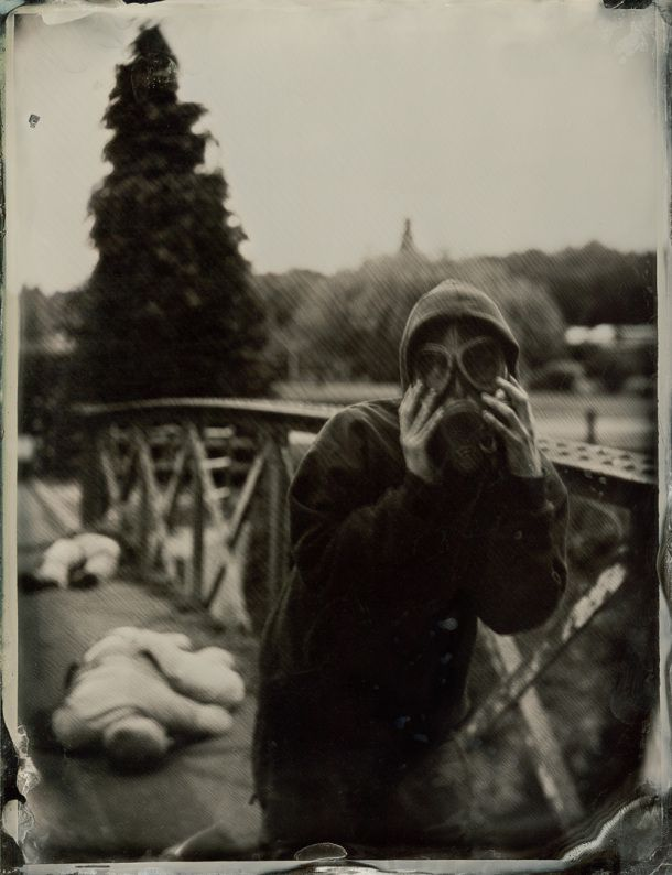 The Scream by Gordon Fraser 8.5″ x 6.5″ Ambrotype