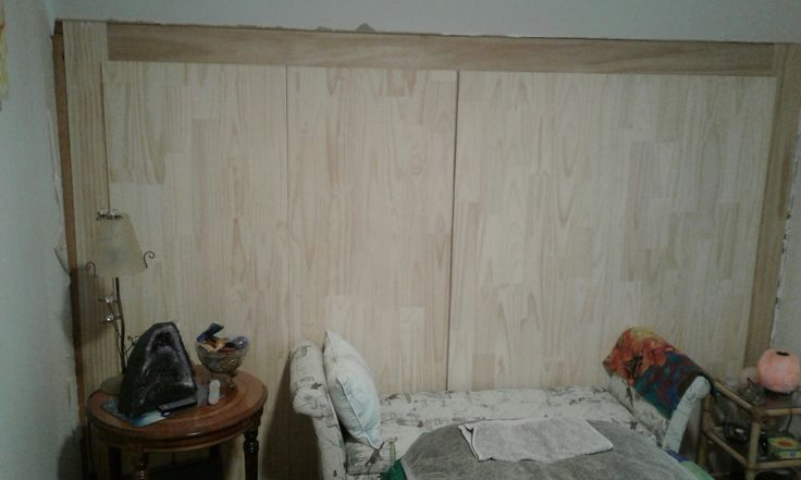 The wool cupboard now has doors, taking shape