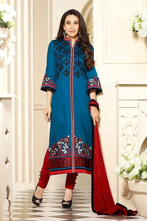 Blue Cotton Salwar Kameez by Karishma - Google Search   #SalwarKameez   #Shalwarkameez  #Indiandresses  #Indiansuits  #Indianfashion  #indianclothes  #Indianoutfits  #salwarsuits  #churidarsuits  #DesignerSalwarSuits  #palazzosuits