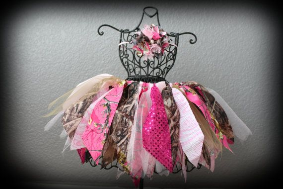 Girls Camo and Pink Tutu / Camouflage Tutu / by ScrapHappyFaith