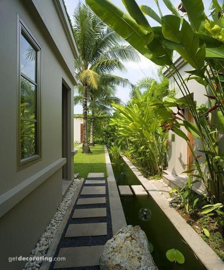 Tropical Side Yards Tropical Yards Landscaping Side Yards Landscaping Narrow Side In 2020 Side Yard Landscaping Backyard Landscaping Backyard Landscaping Designs