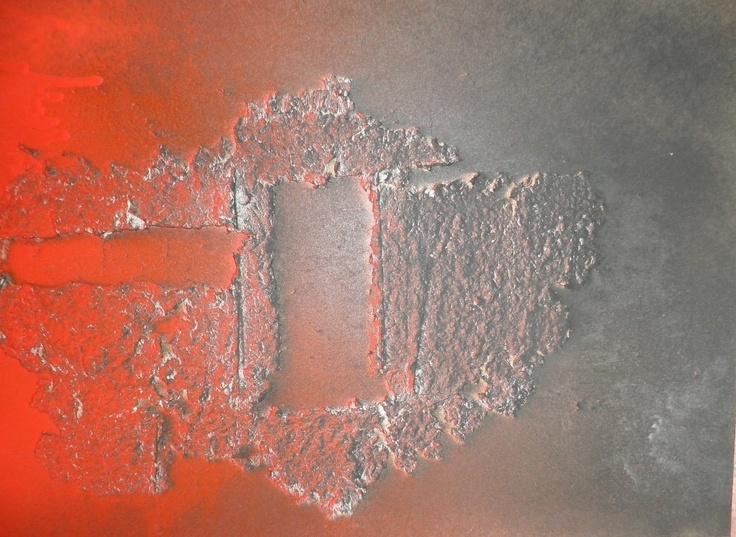 Pintura experimental con papel mach y pintura al aceite - Pintura al aceite ...
