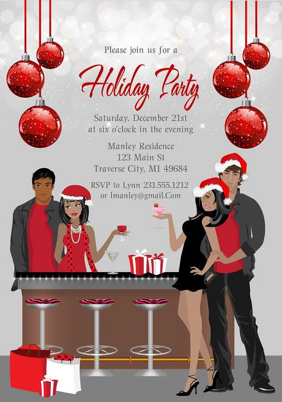 Christmas Cocktail Party Invitations Printable by AnnounceItFavors