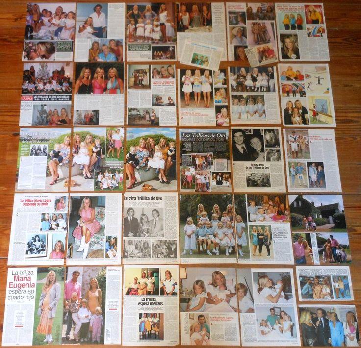 LAS TRILLIZAS DE ORO coleccion prensa 1980s/90s 86 fotos revista Julio Iglesias