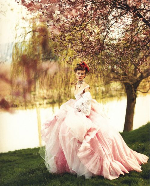 by-paolo-roversi for Vogue: Paoloroversi, Pink Wedding, Paolo Roversi, Ball Gowns, Dresses, Vogue Uk, Vivienne Westwood, Photo, Pink Gowns