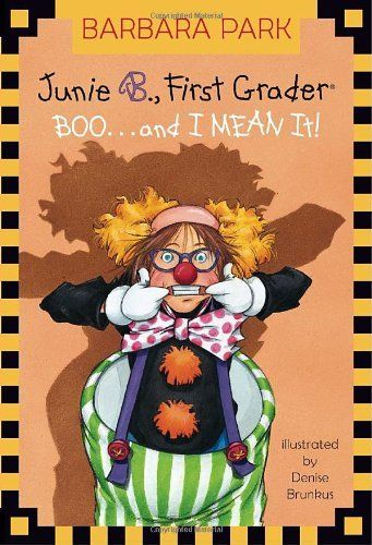 "Junie B., First Grader: Boo...and I Mean It! (Junie B. Jones, No. 24) by Barbara Park. $4.99. http://www.letrasdecanciones365.com/detailp/dpdlg/0d3l7g5y8r2x8n0e7j9l.html. Author: Barbara Park. Publisher: Random House Books for Young Readers; First Edition edition (August 23, 2005). Publication Date: August 23, 2005. Recommended for Ages 6 and up. Halloween with Junie B. has got to be a scream! Get ready for a ""Halloweenie"" adventure with the world's funniest first grader!...: Worth Reading, Boo And, Book Worth, Comic Book, Favorite Book, Barbara Parks, Booand, Jones Series, Children Book"