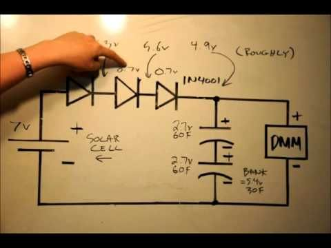 Solar Cells & Super Capacitors Part#2 Using Diodes For Voltage Matching - YouTube