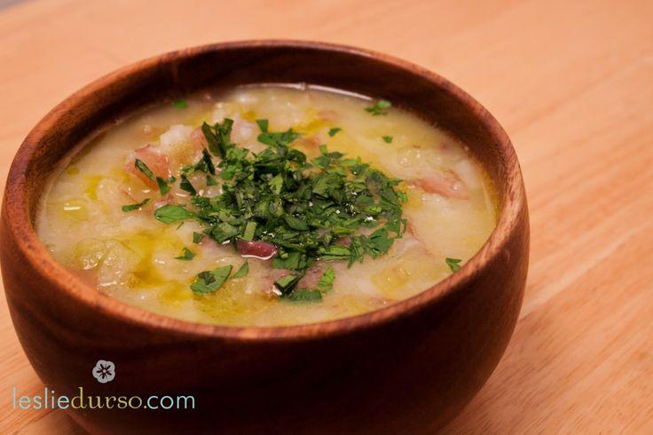 Springtime Potato Leek Soup #vegan #glutenfree
