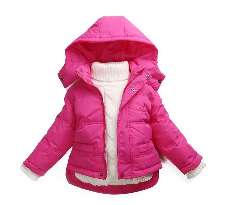Muchachas de Los Niños Chaquetas Con Capucha de Marca Niños Niñas Bebé Ropa de invierno ropa de Abrigo Para Niños 1-7 Años Abajo de la Capa Casacos De Inverno