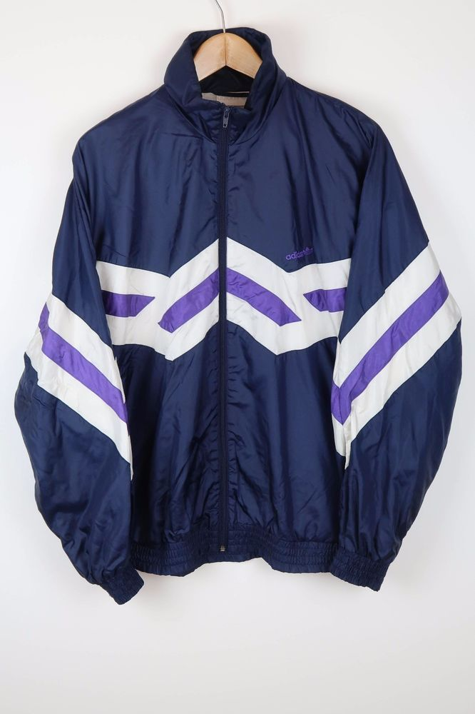 ADIDAS Vintage 90'S BRIGHT SHELL JACKET TRACK TOP SIZE LARGE