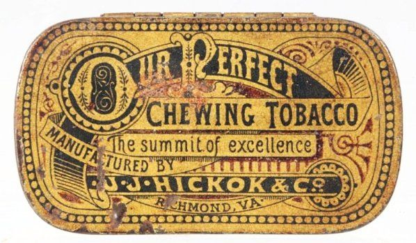 Our Perfect Chewing Tobacco Flat Pocket Tin.
