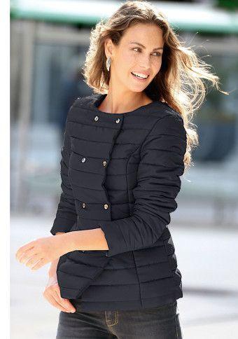 Prešívaná bunda s odopínateľným golierom #ModinoSK