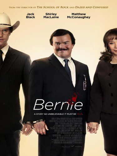 Bernie (2011)  In small-town Texas, an affable mortician strikes up a friendship with a wealthy widow, though when she starts to become controlling, he goes to great lengths to separate himself from her grasp.