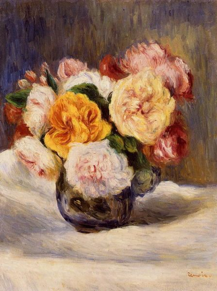 Bouquet of Roses - 1883.  Пьер Огюст Ренуар.