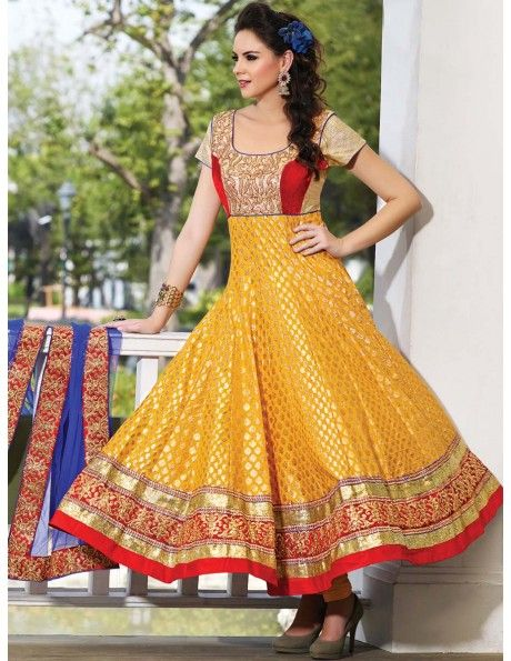 Superb Sangeet Anarkali Suit Item code : SLDHI1101A  http://www.bharatplaza.com/new-arrivals/salwar-kameez/superb-sangeet-anarkali-suit-sldhi1101a.html https://www.facebook.com/bharatplazaportal https://twitter.com/bharat_plaza
