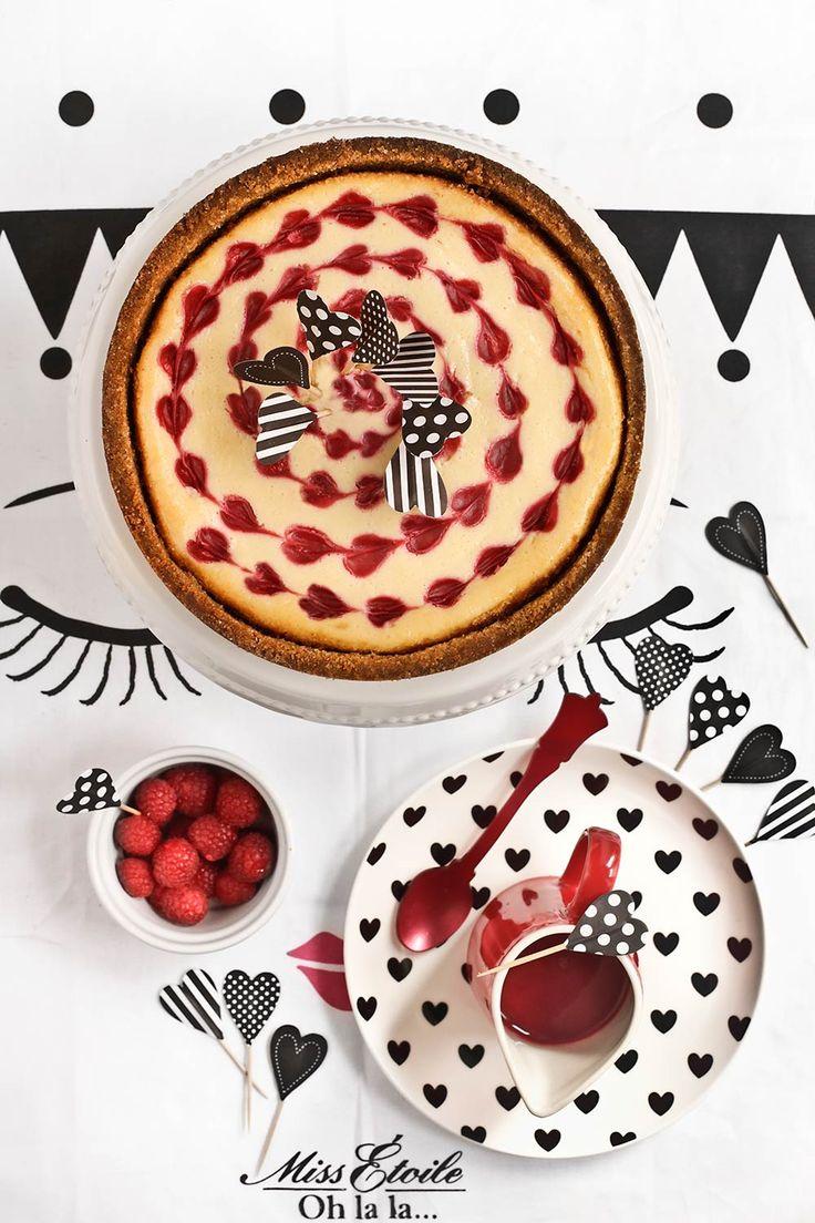 Receta cheesecake de chocolate blanco y frambuesa para San Valentín 1