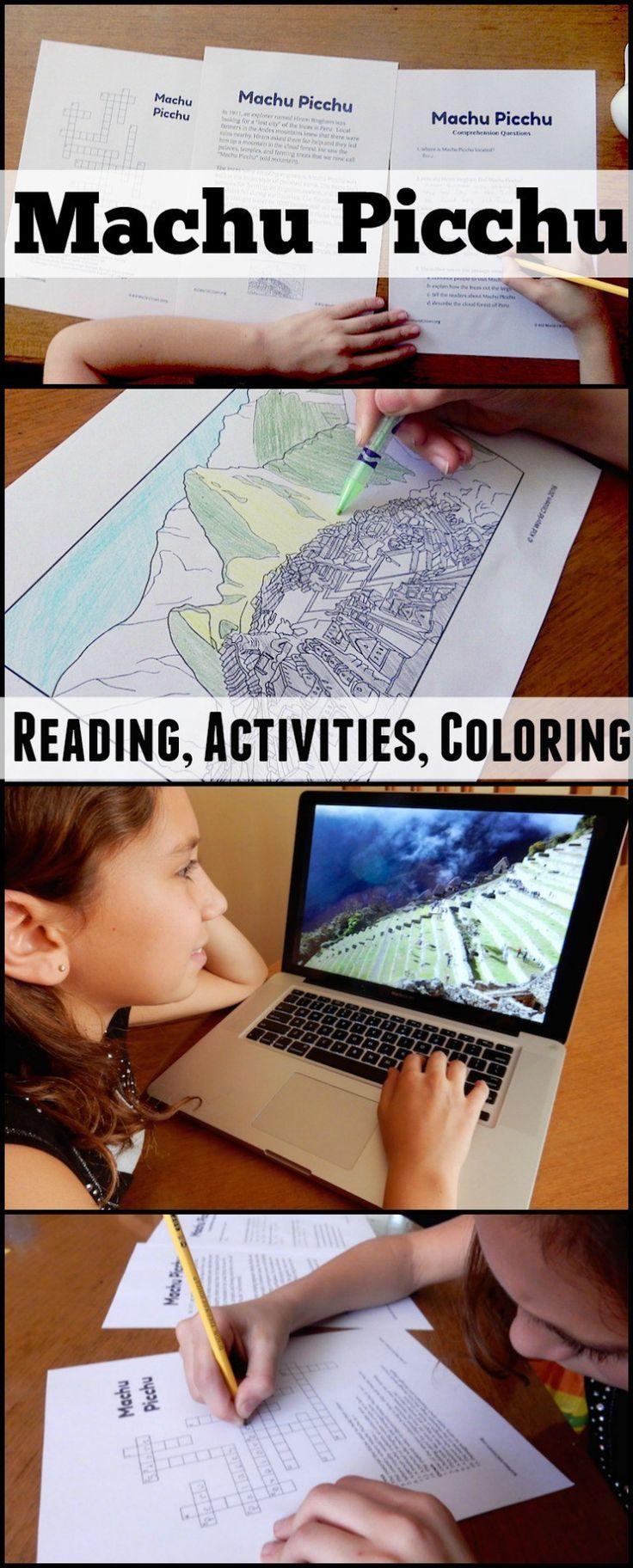Machu Picchu Readings Activities Kids- Kid World Citizen