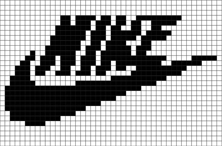 Nike Pixel Art Pixel Art Pixel Kunst Pixelart Vorlagen