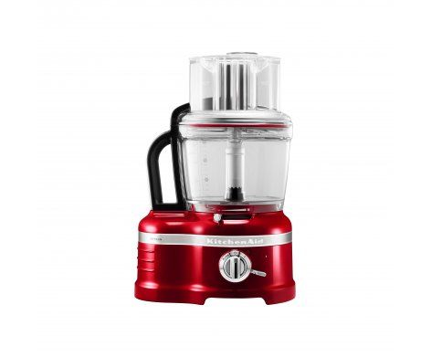 The KitchenAid Pro Line Series 16 Cup Food Processor in Candy Apple Red.   The Food Processor features a die-cast metal base, an incredible 15 standard inclusions as well as the revolutionary ExactSlice™ system that allows you to slice from thick to thin with one slide of the lever making easy work of everyday food preparation.
