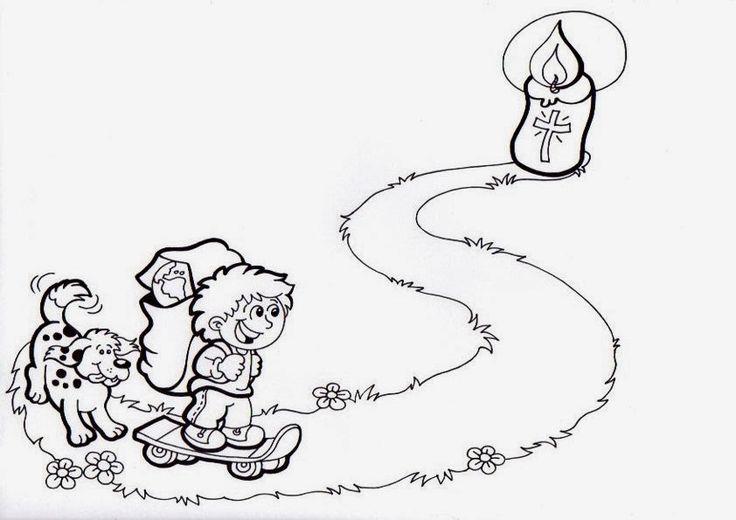 el camino coloring pages - dibujo camino hacia la pascua cuaresma cuaresma