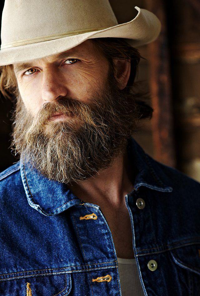 Cowboy style facial hair