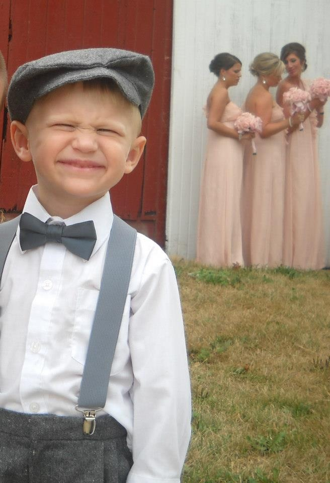 ring bearer outfit in black & white minus the hat