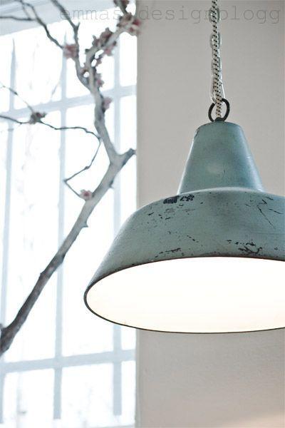 Mintgroene lamp