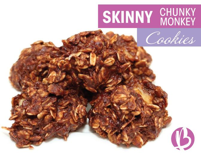These are SO easy and SO yummy. You'l never know they're healthy! | Skinny Chunky Monkey Cookies - Beyond Fit Mom